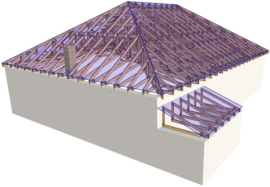 Крыша 4 скатная вальмовая дома своими руками