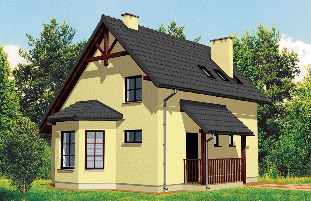 Сборный деревянный каркасный дом