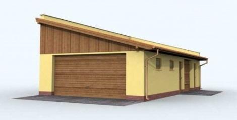 Строительство гаража односкатная