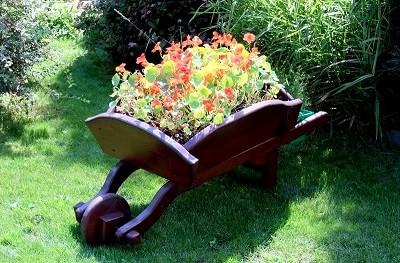 композиция на тачке садовой