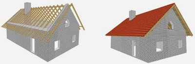 двухскатная крыша 1